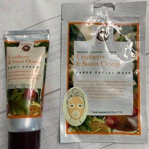 Bolero Cranberry & Sweet Orange Face Mask & Lotion